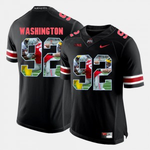 Mens Buckeyes #92 Adolphus Washington Black Pictorial Fashion Jersey 763902-743