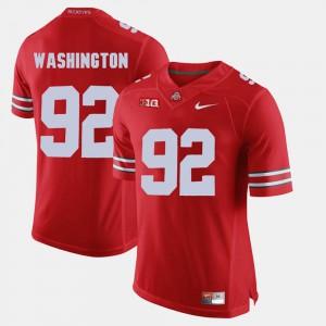 For Men Ohio State #92 Adolphus Washington Scarlet Alumni Football Game Jersey 506138-625