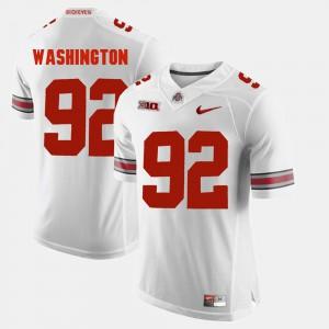 Men's Buckeyes #92 Adolphus Washington White Alumni Football Game Jersey 749349-866