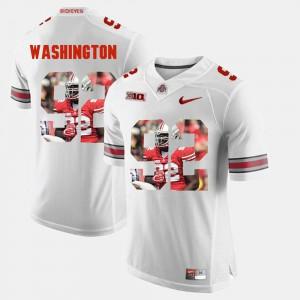 Men OSU Buckeyes #92 Adolphus Washington White Pictorial Fashion Jersey 228738-292