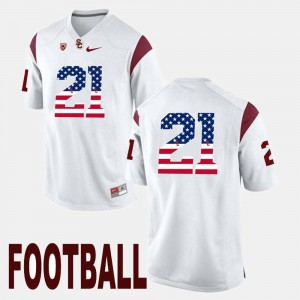 For Men USC #21 Adoree' Jackson White US Flag Fashion Jersey 721163-451