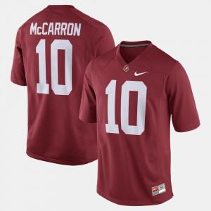 Men Alabama Crimson Tide #10 A.J. McCarron Crimson Alumni Football Game Jersey 322104-588