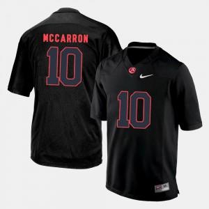 Men Alabama Crimson Tide #10 A.J. McCarron Black College Football Jersey 315700-899