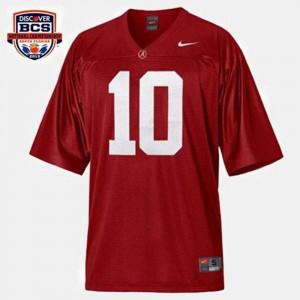 Men Bama #10 A.J. McCarron Red College Football Jersey 739729-574