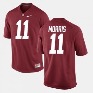 Mens Bama #11 Alec Morris Crimson Alumni Football Game Jersey 866345-267