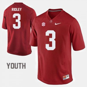 Kids Roll Tide #3 Calvin Ridley Red College Football Jersey 647040-276