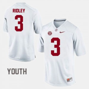 Kids Bama #3 Calvin Ridley White College Football Jersey 930084-160