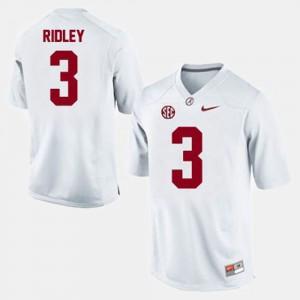Mens Alabama #3 Calvin Ridley White College Football Jersey 340336-211