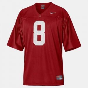 For Kids Bama #8 Julio Jones Red College Football Jersey 506758-721
