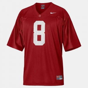For Men Alabama Crimson Tide #8 Julio Jones Red College Football Jersey 297293-326