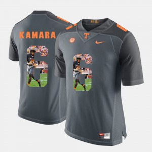 For Men's Tennessee #6 Alvin Kamara Grey Pictorial Fashion Jersey 226356-771