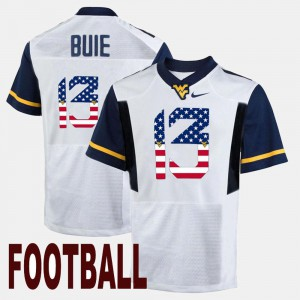 Men Mountaineers #13 Andrew Buie White US Flag Fashion Jersey 762809-693