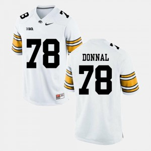 Men Iowa #78 Andrew Donnal White Alumni Football Game Jersey 671871-510