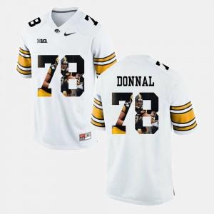 Men's Iowa #78 Andrew Donnal White Pictorial Fashion Jersey 451125-627