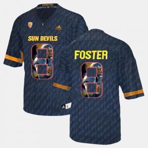 Men's Arizona State Sun Devils #8 D.J. Foster Black Player Pictorial Jersey 770059-405