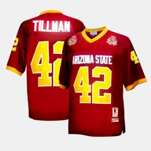 Kids Arizona State University #42 Pat Tillman Red College Football Jersey 582838-789
