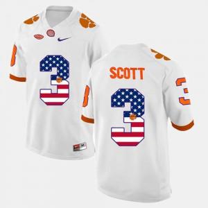 For Men CFP Champs #3 Artavis Scott White US Flag Fashion Jersey 730225-250