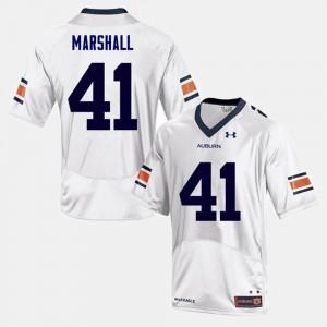 Men Auburn Tigers #41 Aidan Marshall White College Football Jersey 682209-348