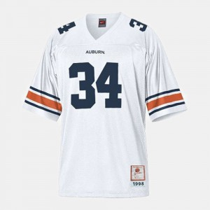 For Men's AU #34 Bo Jackson White College Football Jersey 909202-197