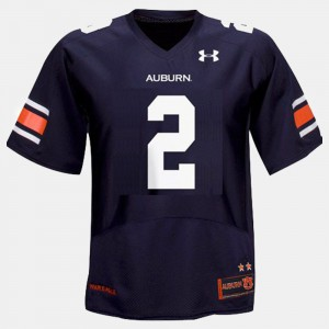 For Kids AU #2 Cam Newton Blue College Football Jersey 771393-119