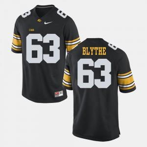 For Men University of Iowa #63 Austin Blythe Black Alumni Football Game Jersey 260587-661