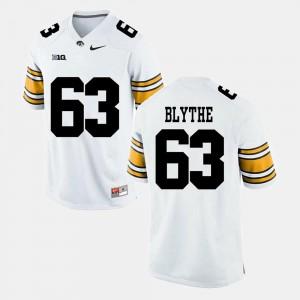 Men's Iowa Hawkeye #63 Austin Blythe White Alumni Football Game Jersey 584025-735