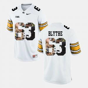 Men's Iowa Hawkeye #63 Austin Blythe White Pictorial Fashion Jersey 652324-361