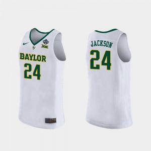 Womens BU #24 Chloe Jackson White 2019 NCAA Women's Basketball Champions Jersey 162914-464