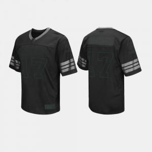 For Men's Baylor University #17 Black College Football Jersey 584226-622