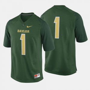 Men's Baylor University #1 Green College Football Jersey 705458-593