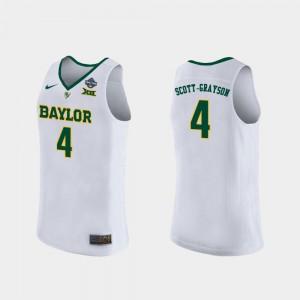 Ladies BU #4 Honesty Scott-Grayson White 2019 NCAA Women's Basketball Champions Jersey 291089-712