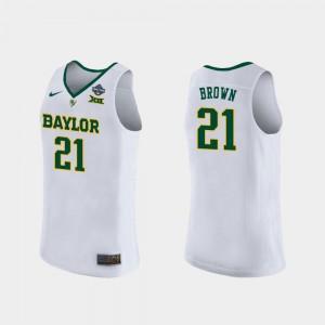 Women Baylor #21 Kalani Brown White 2019 NCAA Women's Basketball Champions Jersey 408134-776