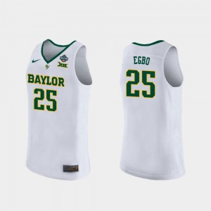 For Women's Baylor University #25 Queen Egbo White 2019 NCAA Women's Basketball Champions Jersey 361957-489