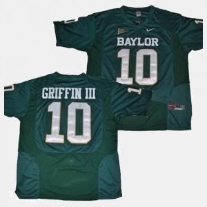 Men Baylor University #10 Robert Griffin III Green College Football Jersey 277487-767