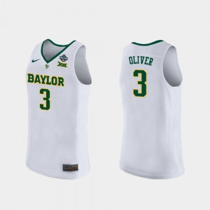 For Women's Baylor #3 Trinity Oliver White 2019 NCAA Women's Basketball Champions Jersey 633049-544