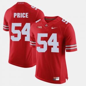 Mens Buckeyes #54 Billy Price Scarlet Alumni Football Game Jersey 969394-938