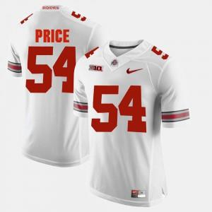 For Men Ohio State #54 Billy Price White Alumni Football Game Jersey 607008-325