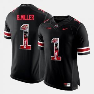 For Men's Buckeyes #1 Braxton Miller Black Pictorial Fashion Jersey 820069-959