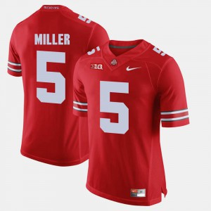 Men's OSU Buckeyes #5 Braxton Miller Scarlet Alumni Football Game Jersey 774448-964