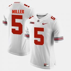 Men Buckeyes #5 Braxton Miller White Alumni Football Game Jersey 976538-656