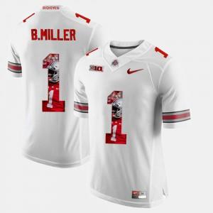 Men Ohio State Buckeyes #1 Braxton Miller White Pictorial Fashion Jersey 759388-242