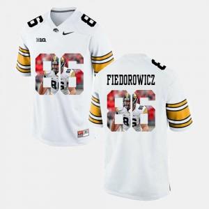 Men Iowa #86 C.J. Fiedorowicz White Pictorial Fashion Jersey 478385-414