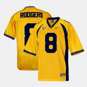 For Kids California Golden Bears #8 Aaron Rodgers Gold College Football Jersey 410272-473