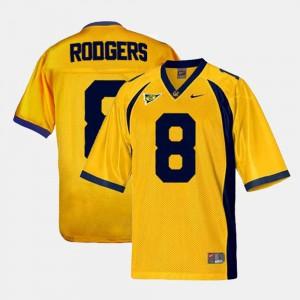 Men Golden Bears #8 Aaron Rodgers Gold College Football Jersey 185823-687