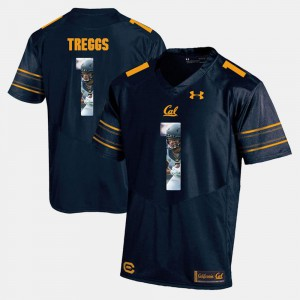 Mens University of California #1 Bryce Treggs Navy Blue Player Pictorial Jersey 733380-916