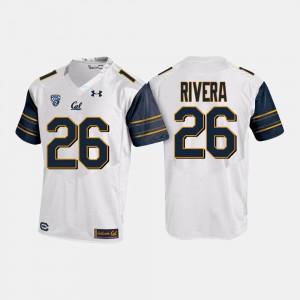 Men's California Berkeley #26 Bug Rivera White College Football Jersey 315654-701