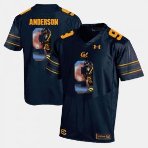 For Men's Golden Bears #9 C.J. Anderson Navy Blue Player Pictorial Jersey 793226-230