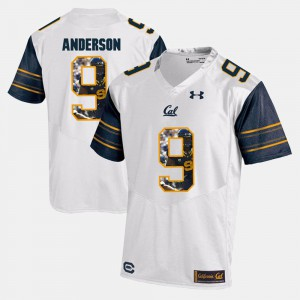 For Men Cal Berkeley #9 C.J. Anderson White Player Pictorial Jersey 591488-766