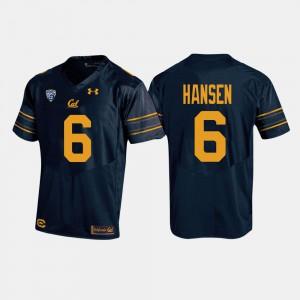 Men California Berkeley #6 CHAD HANSEN Navy College Football Jersey 953600-582