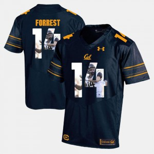 Mens University of California #14 Chase Forrest Navy Blue Player Pictorial Jersey 141432-570